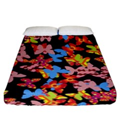 Butterflies Fitted Sheet (King Size)