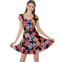 Butterflies Cap Sleeve Dresses