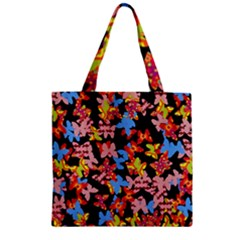 Butterflies Zipper Grocery Tote Bag