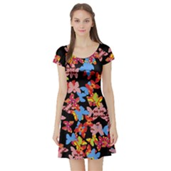 Butterflies Short Sleeve Skater Dress