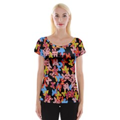 Butterflies Women s Cap Sleeve Top