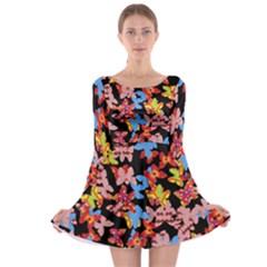 Butterflies Long Sleeve Skater Dress