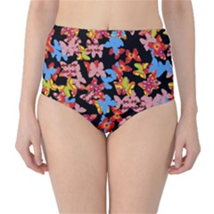 Butterflies High-Waist Bikini Bottoms