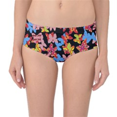 Butterflies Mid-Waist Bikini Bottoms