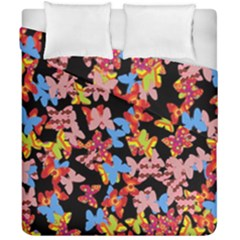Butterflies Duvet Cover Double Side (California King Size)