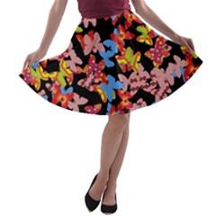 Butterflies A-line Skater Skirt