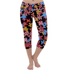 Butterflies Capri Yoga Leggings
