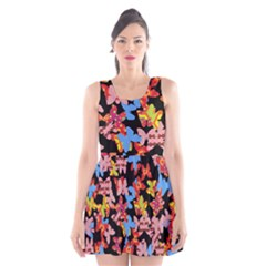 Butterflies Scoop Neck Skater Dress