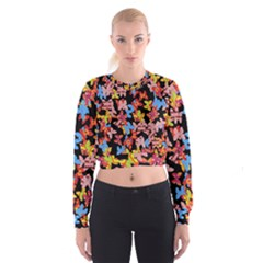 Butterflies Women s Cropped Sweatshirt