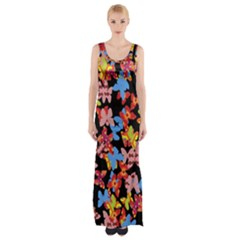 Butterflies Maxi Thigh Split Dress