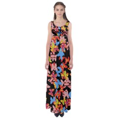 Butterflies Empire Waist Maxi Dress
