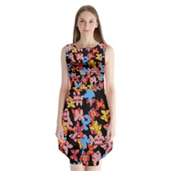 Butterflies Sleeveless Chiffon Dress