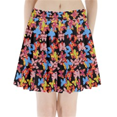 Butterflies Pleated Mini Skirt
