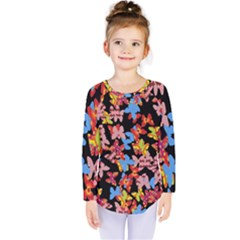 Butterflies Kids  Long Sleeve Tee
