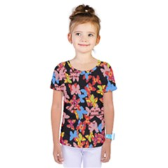 Butterflies Kids  One Piece Tee