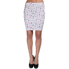 Cute Flamingos And  Leaves Pattern Bodycon Skirt