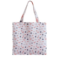 Cute Flamingos And  Leaves Pattern Grocery Tote Bag