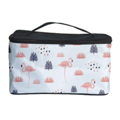 Cute Flamingos And  Leaves Pattern Cosmetic Storage Case