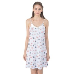 Cute Flamingos And  Leaves Pattern Camis Nightgown