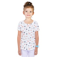 Cute Flamingos And  Leaves Pattern Kids  One Piece Tee