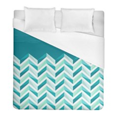 Zigzag pattern in blue tones Duvet Cover (Full/ Double Size)
