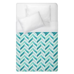 Zigzag pattern in blue tones Duvet Cover (Single Size)