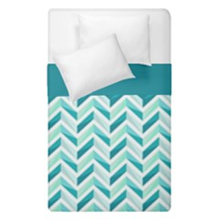 Zigzag pattern in blue tones Duvet Cover Double Side (Single Size)