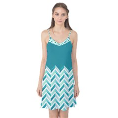 Zigzag pattern in blue tones Camis Nightgown