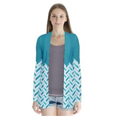 Zigzag Pattern In Blue Tones Cardigans