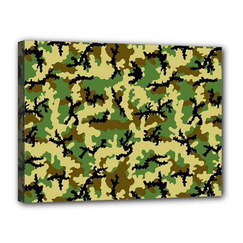 Camo Woodland Canvas 16  x 12