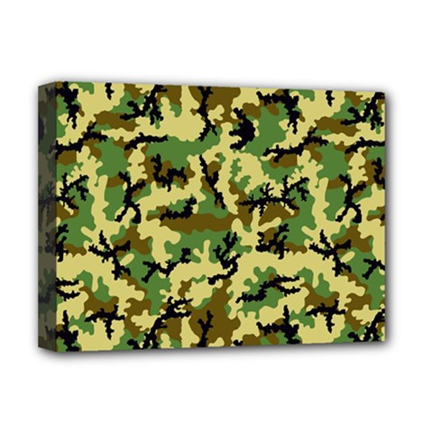 Camo Woodland Deluxe Canvas 16  x 12