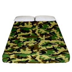 Camo Woodland Fitted Sheet (king Size)