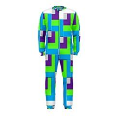 Geometric 3d Mosaic Bold Vibrant OnePiece Jumpsuit (Kids)