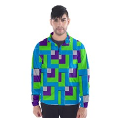Geometric 3d Mosaic Bold Vibrant Wind Breaker (Men)