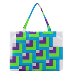 Geometric 3d Mosaic Bold Vibrant Medium Tote Bag