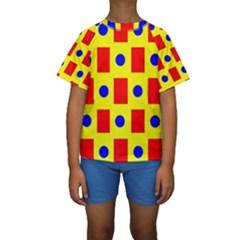 Pattern Design Backdrop Kids  Short Sleeve Swimwear
