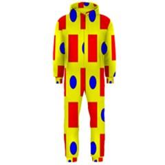 Pattern Design Backdrop Hooded Jumpsuit (men)