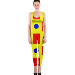 Pattern Design Backdrop OnePiece Catsuit