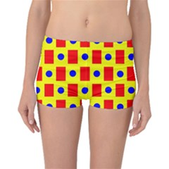 Pattern Design Backdrop Boyleg Bikini Bottoms