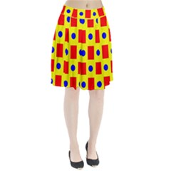 Pattern Design Backdrop Pleated Skirt