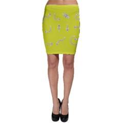 Arrow Line Sign Circle Flat Curve Bodycon Skirt