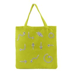 Arrow Line Sign Circle Flat Curve Grocery Tote Bag