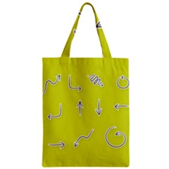 Arrow Line Sign Circle Flat Curve Zipper Classic Tote Bag