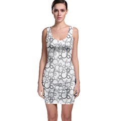 Pattern Sleeveless Bodycon Dress