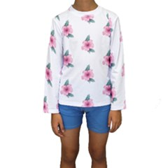 Etro Vintage Former Wallpaper Kids  Long Sleeve Swimwear