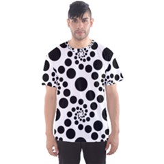 Dot Dots Round Black And White Men s Sport Mesh Tee