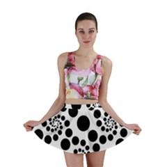 Dot Dots Round Black And White Mini Skirt