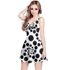 Dot Dots Round Black And White Reversible Sleeveless Dress