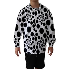 Dot Dots Round Black And White Hooded Wind Breaker (kids)
