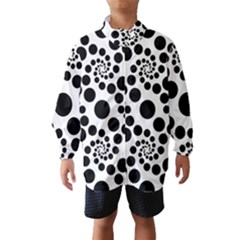 Dot Dots Round Black And White Wind Breaker (Kids)